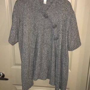 Sweaters - Gray three button sweater